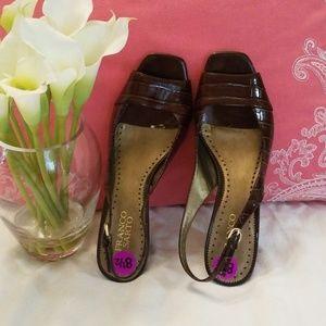 Franco Sarto Brown Size 8.5 low heels.